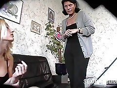 MILF nude videos - lesbians scissor fucking